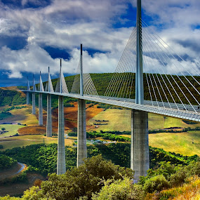 VIADUCT OF MILLAU by Jesús Erdozain - Buildings & Architecture Bridges & Suspended Structures ( viaduct, france, architecture, bridge, engineering )