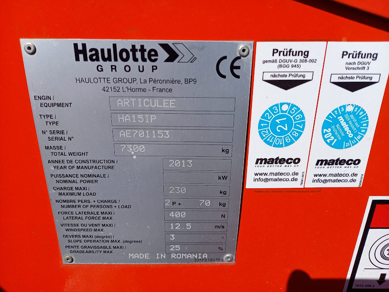 Picture of a HAULOTTE HA15 IP