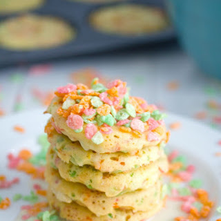 Sherbet Fruity Pebbles Pancakes