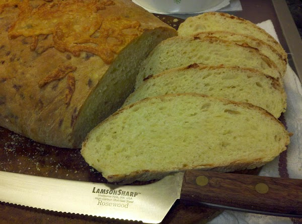 This bread slices well and tastes really great with butter. I did not notice...