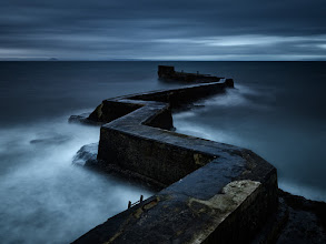Photo: St Monans, Scotland  Pre-dawn shot of what looked like the pathway to the distant island. Rain, wind, high tide and darkness has built the mood up.  Enjoy and share!
