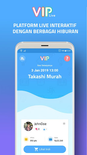 VIP Live  captures d'écran 1