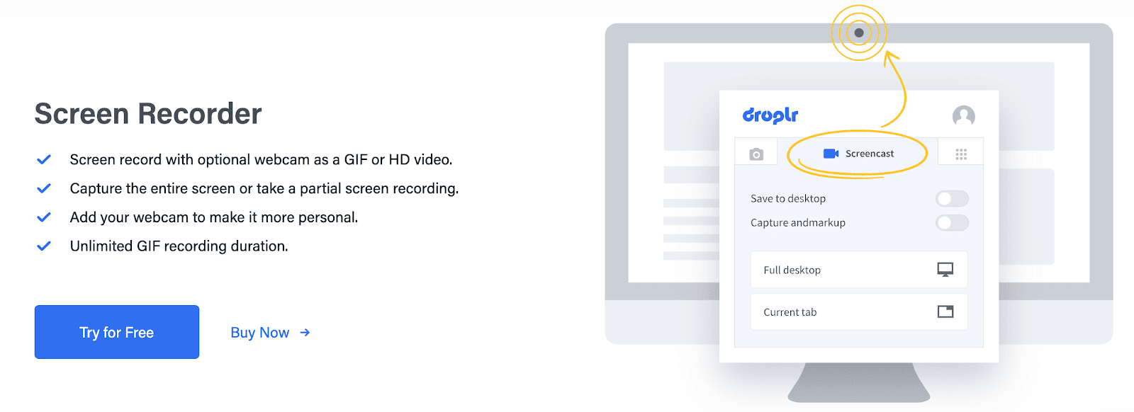 Droplr Screen Recorder