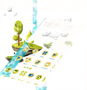 Příroda Launcher Téma - náhled