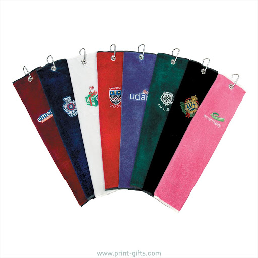 Promotional Embroidered Golf Towels - Blue