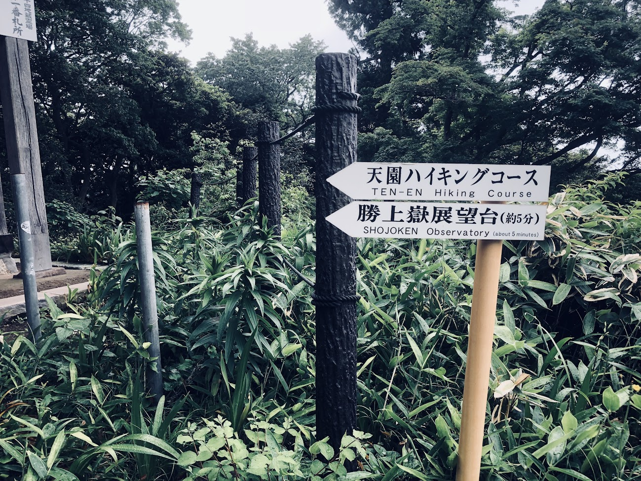 the signs of Tenen-Hiking course