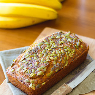 Banana Bread with Chia and Pumpkin Seeds