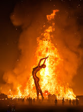 Photo: The Temple Burns after the Man  On the final night, a huge fire engulfed the temple and it burned away into the darkness...   #BurningMan   (and err... yes, I know that is a woman...  above I was referring the the Burning Man at Burning Man, which burned the day before...)