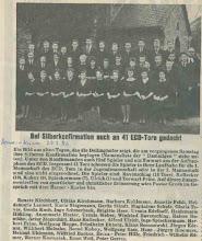 Photo: Artikel des alten Hemer-Kuriers über eine von Pastor Groth gehaltene Silberne Konfirmation
