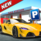 Luxury Car Driving Simulator - Gas Station Parking