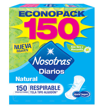 Protectos Nosotras Diarios Natural Respirable x150Und