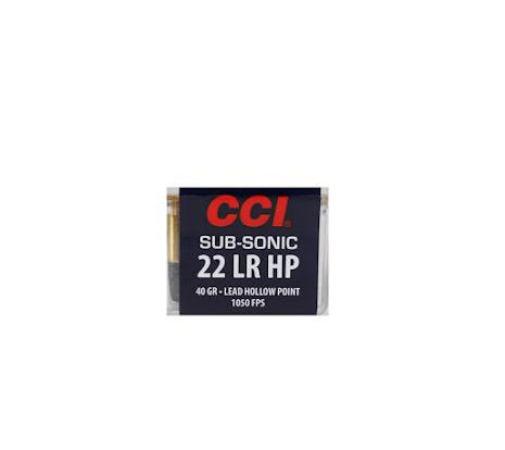 CCI 22lr Subsonic HP 40gr