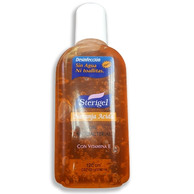 antibacterial sterigel naranja acida 120 ml