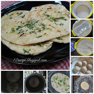 Naan - On stove top.