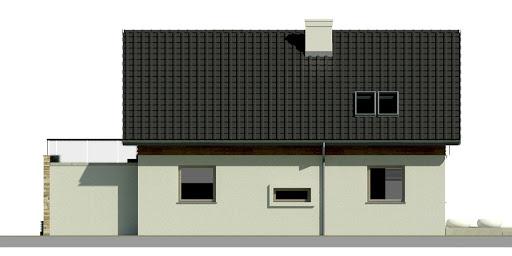 Dom przy Alabastrowej 5 - Elewacja tylna