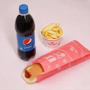 Hot Dog'n Packaged Schweppes + Chips
