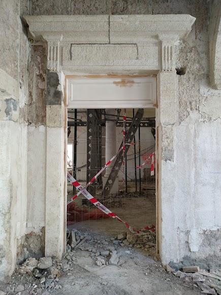 Entrada a las diferentes salas, ya restauradas, y que mantendrán sus nombres