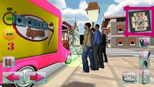冰淇淋 交货 卡车