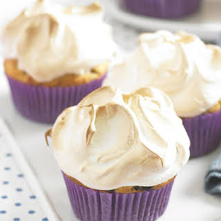 Pineapple Muffins with Meringue Topping.