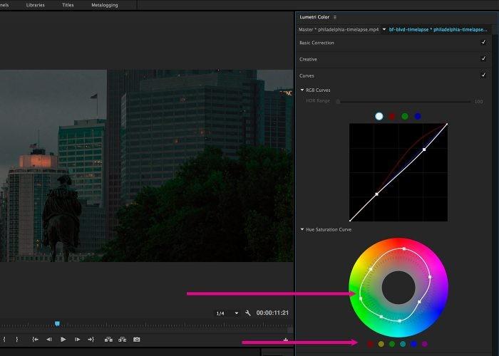 Curves có tác dụng gần giống khi xử lý ảnh trên Photoshop