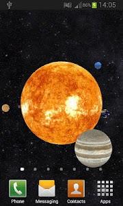 Solar System 3D Free LWP v1.1.0