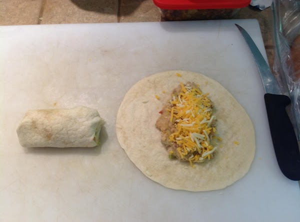 Warm tortillas in the microwave (about 30 seconds).  Place scant amount of potato...