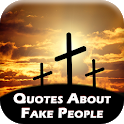 Quotes about fake people & friend icon