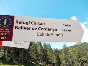Photo: du Coll de Pendis un carrefour important de sentier partent en étoile