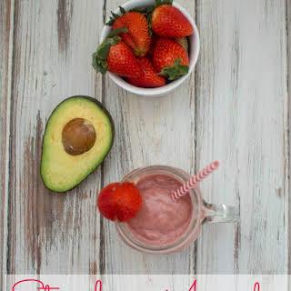 Strawberry Avocado Smoothie.