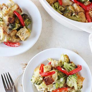 Overnight Broccoli Cheddar Breakfast Casserole