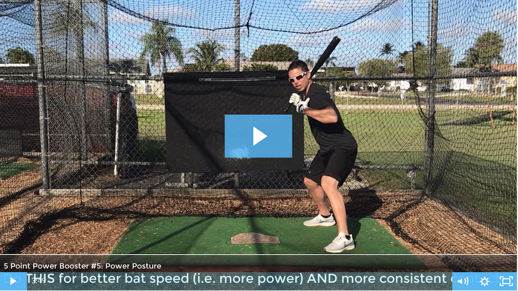 Video 5 - How to hit a baseball with more bat speed and more power