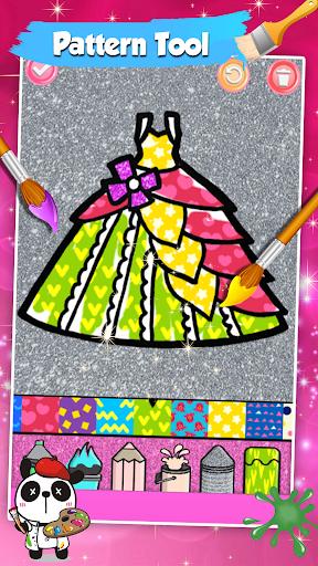 Glitter Dresses Coloring Book For Kids screenshot 12