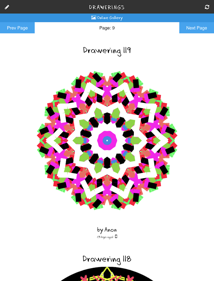 Kaleidoscope Mandala Drawings!- screenshot