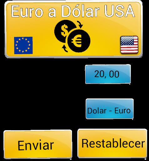 Euro a Dólar USA Conversor