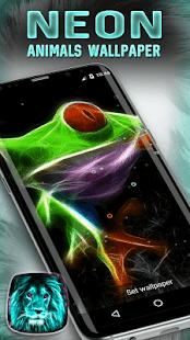 Neon Tiere Live Hintergrund Screenshot