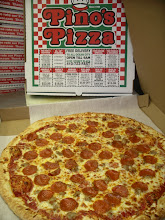 """Photo: 20"""" Pepperoni & Sausage. I double-cut this little monster. We named this """"The New York City"""" Pie because the slice-pies in NYC are this big. But we sell em as a to-go whole pizza,"""