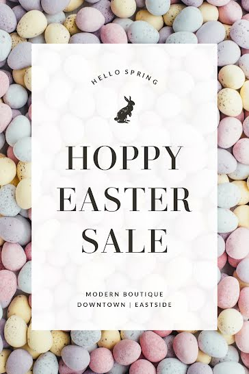 Hoppy Easter Sale - Easter template