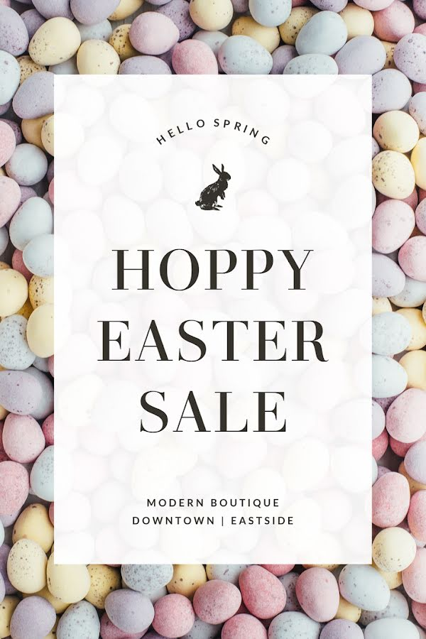 Hoppy Easter Sale - Easter Template
