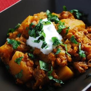 Crock Pot Pumpkin Lentil Stew Recipe