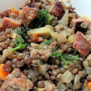French Lentils with Sausage and Fennel