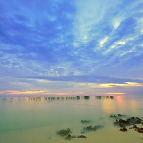 Morning at semak daun island by Arie Sudharisman II - Landscapes Waterscapes