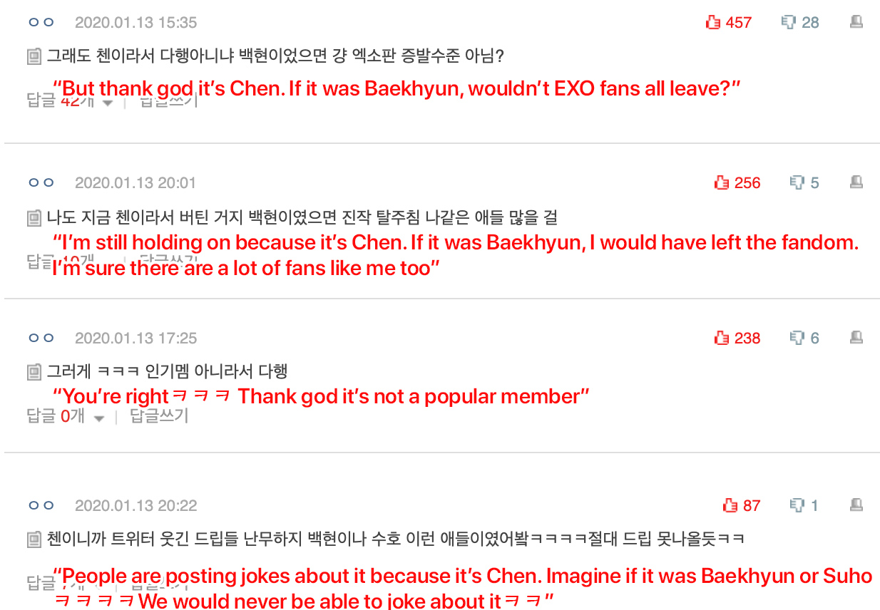 chen exo baekhyun reaction
