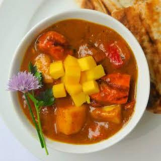 Easy Mango Chicken Curry.