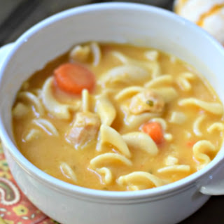 Chicken Noodle Pumpkin Soup