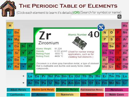 Periodic table of elements study quiz modes download for pc screenshot periodic table of elements study quiz modes urtaz Choice Image