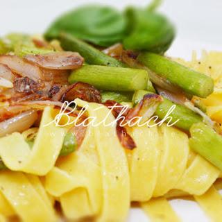 Asparagus & Shallots Pasta.