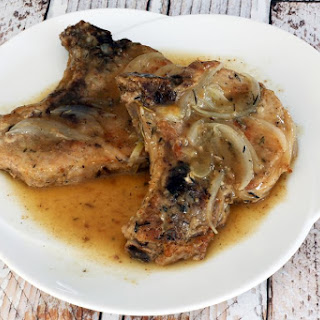 Pork Chops Baked With Wine.