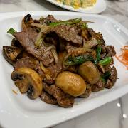 H5. Stir Fried Beef with Mushroom and Ginger 蘑菇蔥爆牛肉