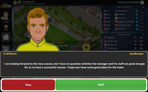Club Soccer Director 2019 - Soccer Club Management 2.0.25 screenshots 13