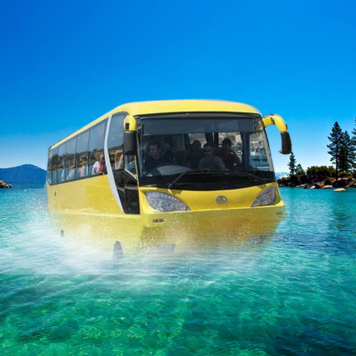 Water Surfer Floating Bus 3D